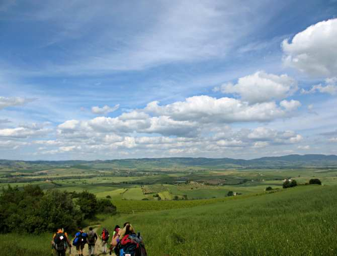 Under the sky in the Val d'Orcia