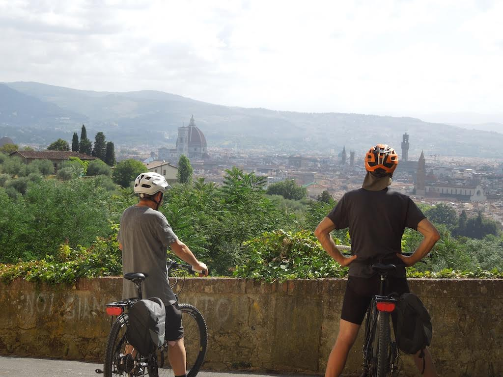 Florence from above [Photo Credits: Toscana by Bike]