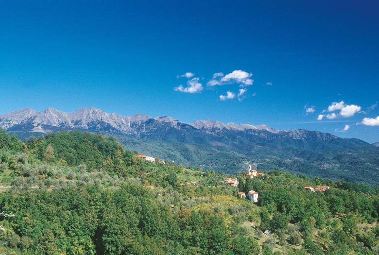 View of eastern Lunigiana