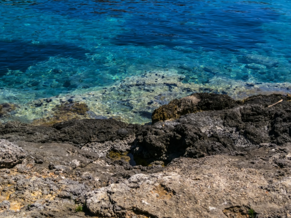 The crystal-clear sea surrounding Giannutri