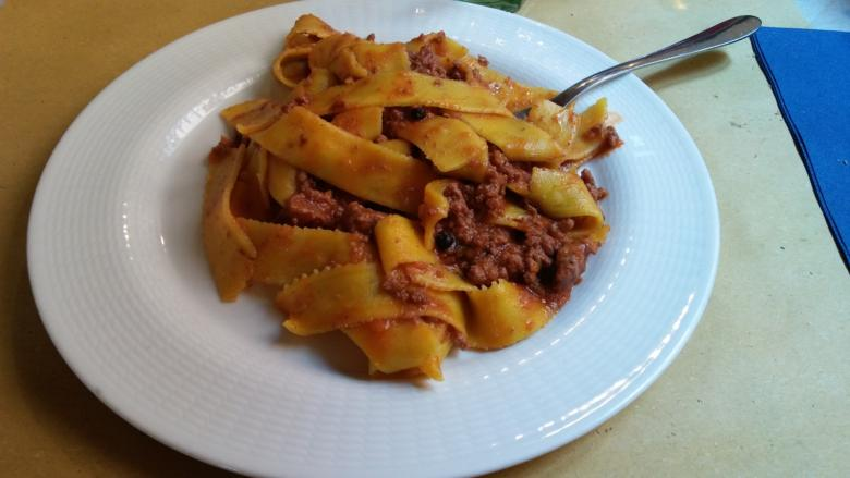 Pappardelle with wild boar sauce