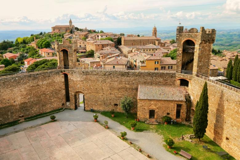 Image result for Montalcino is surrounded by defensive medieval walls