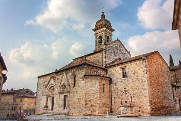 San Quirico d'Orcia, parish church of San Quirico