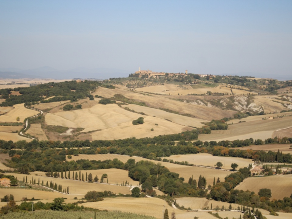 Val d'Orcia from Monticchiello