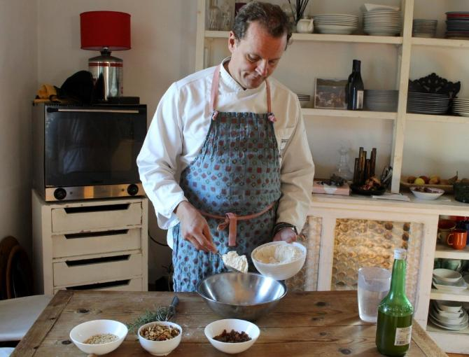 Castagnaccio recipe. In the kitchen with Arturo Dori, personal chef