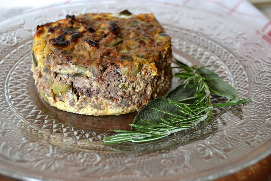 Chicken liver and courgette frittata