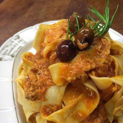 Pappardelle on the hare