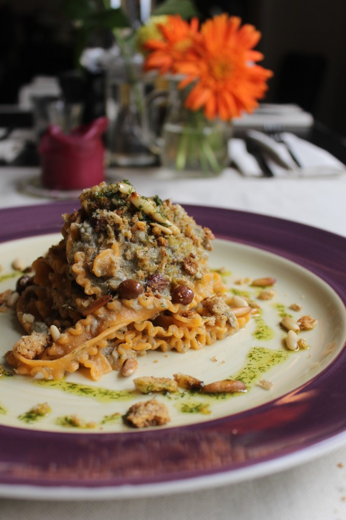 Pasta with sardines, pine nuts, fennel, raisins and crispy crumbs