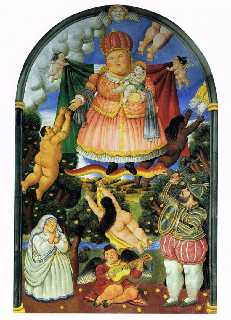 The Gate of Paradise by Botero