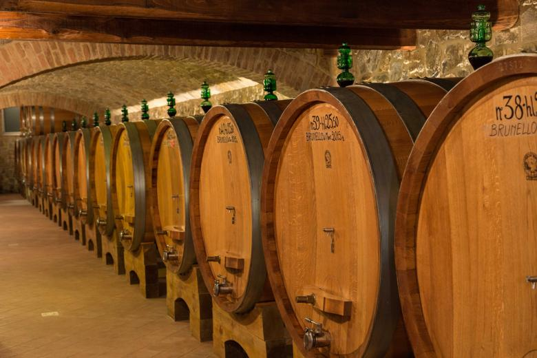 Barrels of Brunello di Montalcino