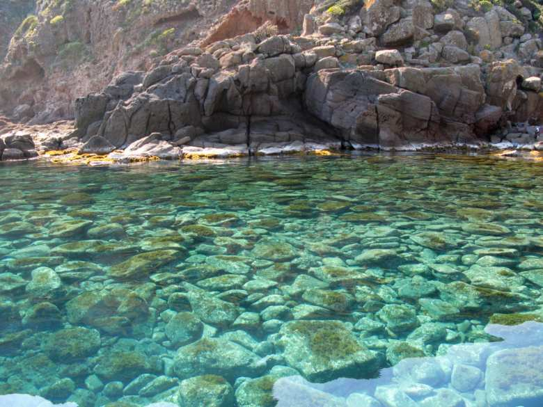 The crystal clear waters of Capraia