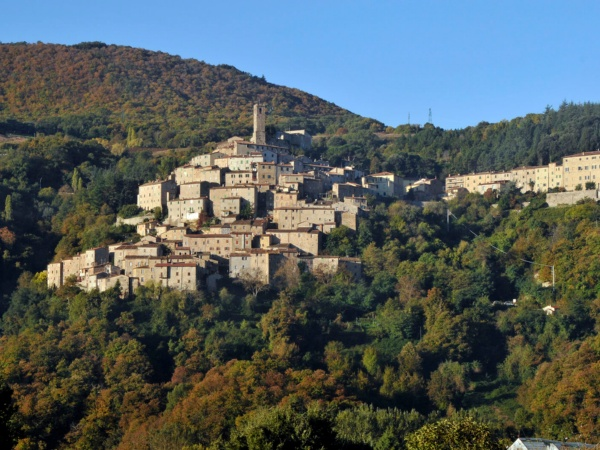 View of Castelnuovo in Val di Cecina