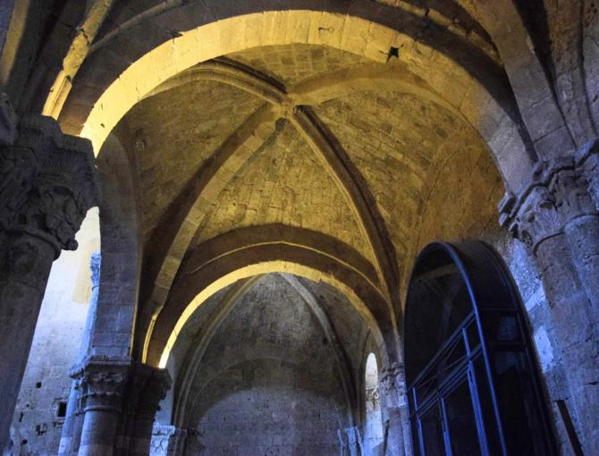 The ceiling inside Cathedral of San Pietro in Sovana