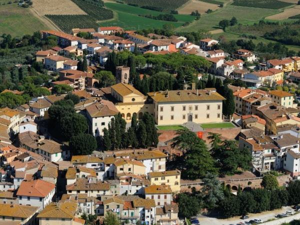 View of historic centre of Cerreto Guidi