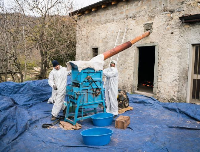 The Lunigiana chestnut flour process