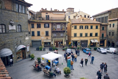 Main square of Cortona