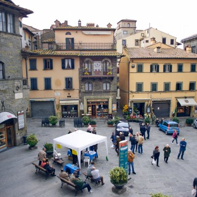 Plaza mayor de Cortona