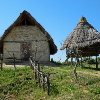 Huts at Archaeological Park