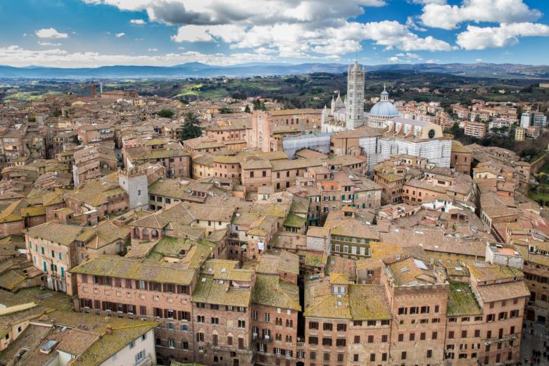 Siena and its Duomo from the Torre del Mangia