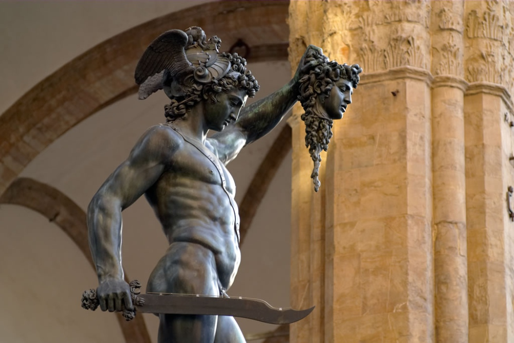 Perseus With The Head Of Medusa Acrylic Print by Zinvolle Art  |Perseus With The Head Of Medusa Painting
