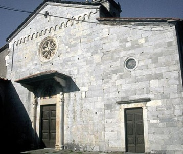 The church of Santa Maria Assunta in Stazzema