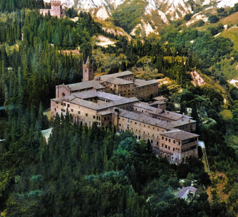 Aerial view of the monastery