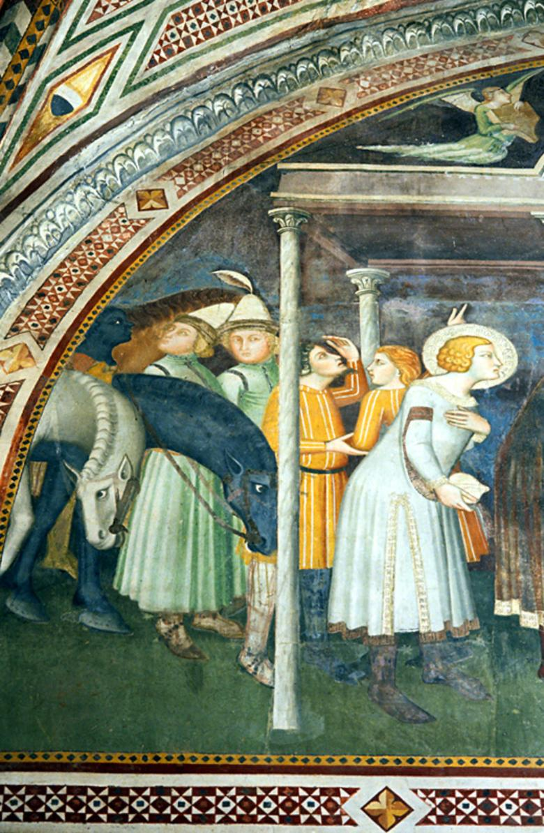 Detail of a painting inside the Church of San Michele Arcangelo