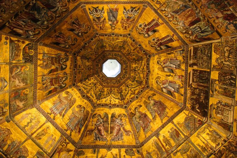 Ceiling inside the Baptsitery of San Giovanni Battista