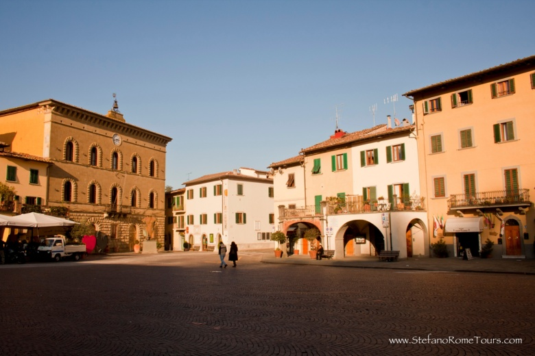 Main centre in Greve in Chianti