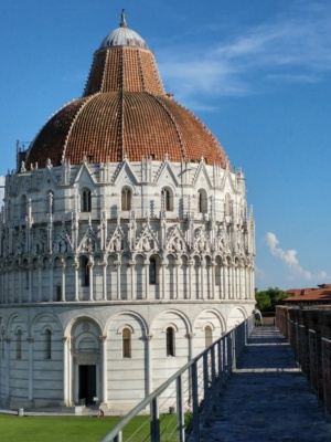 View from the city walls of Pisa