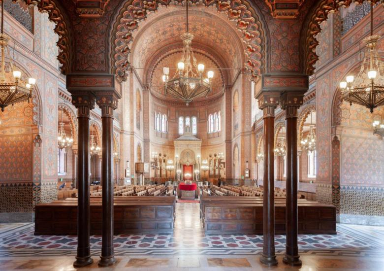 Interior of the Synagogue in Florence