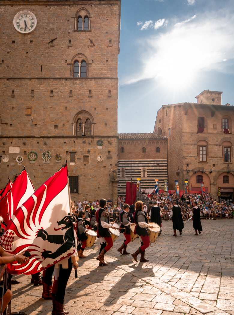 Volterra medieval festival in August