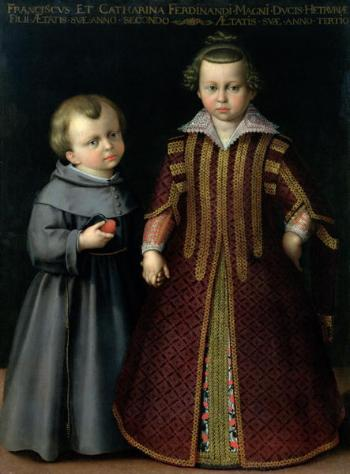Francesco and Caterina Medici, by Cristofano Allori, Palazzo Pitti