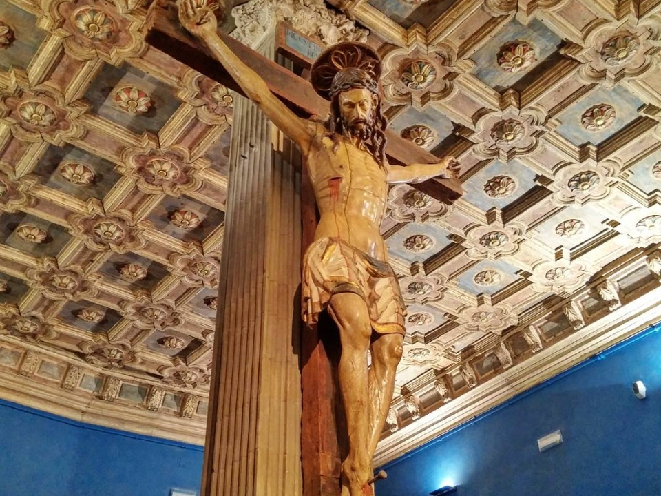 Medieval wooden crucifix
