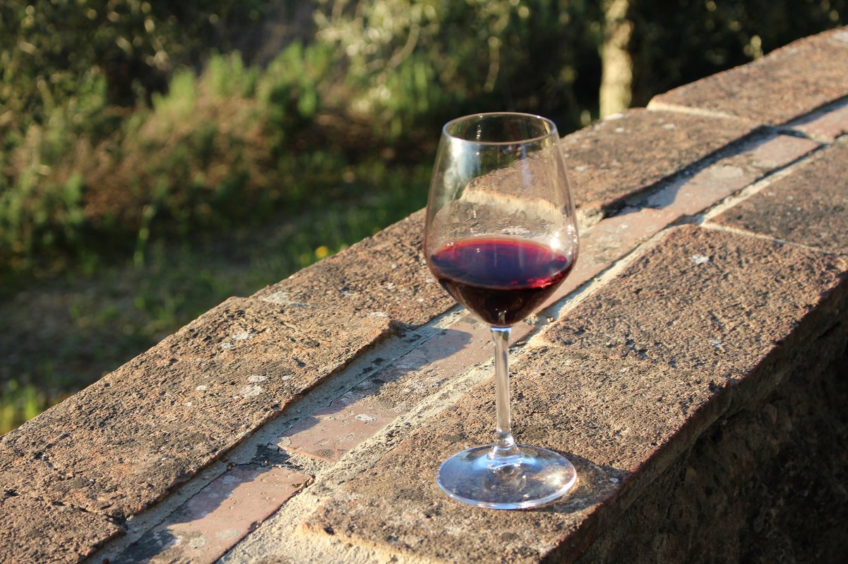 glass of chianti wine