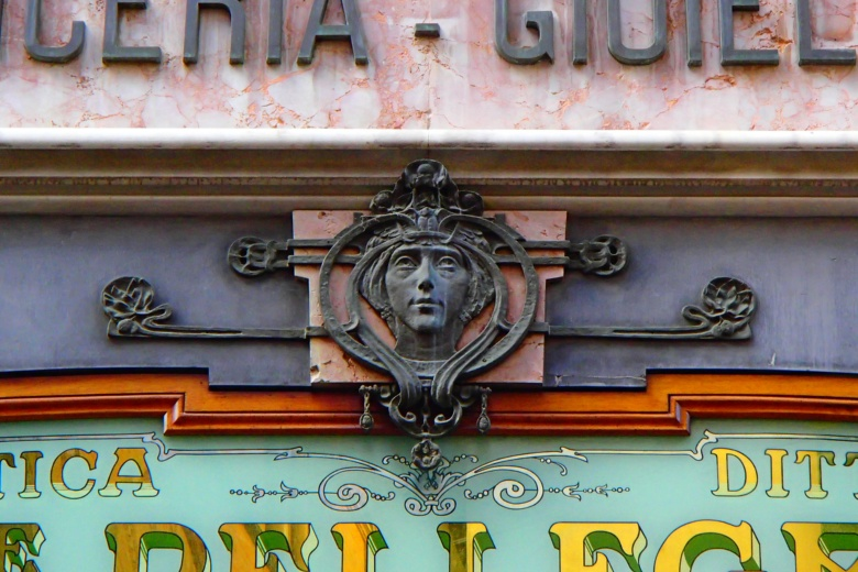 Jewellery sign in Liberty style, Lucca