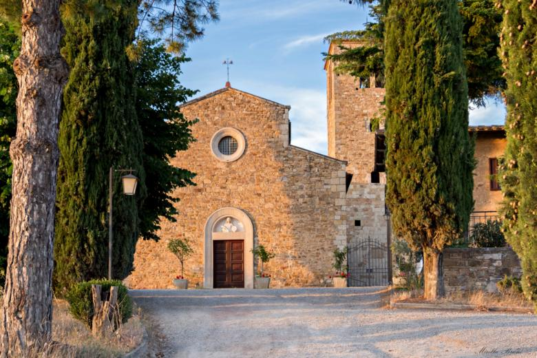 The church of Sant'Agnese in Castellina in Chianti