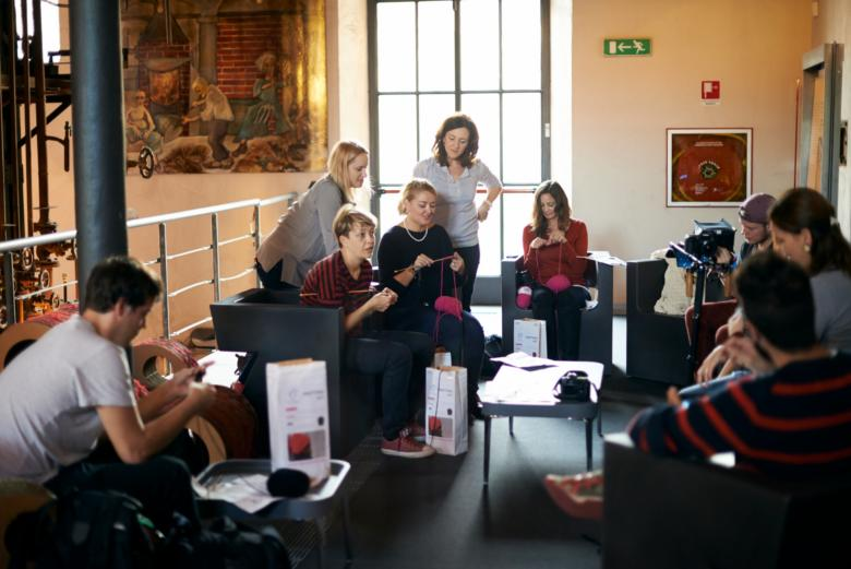 Knitting workshop at the Prato Textile Museum