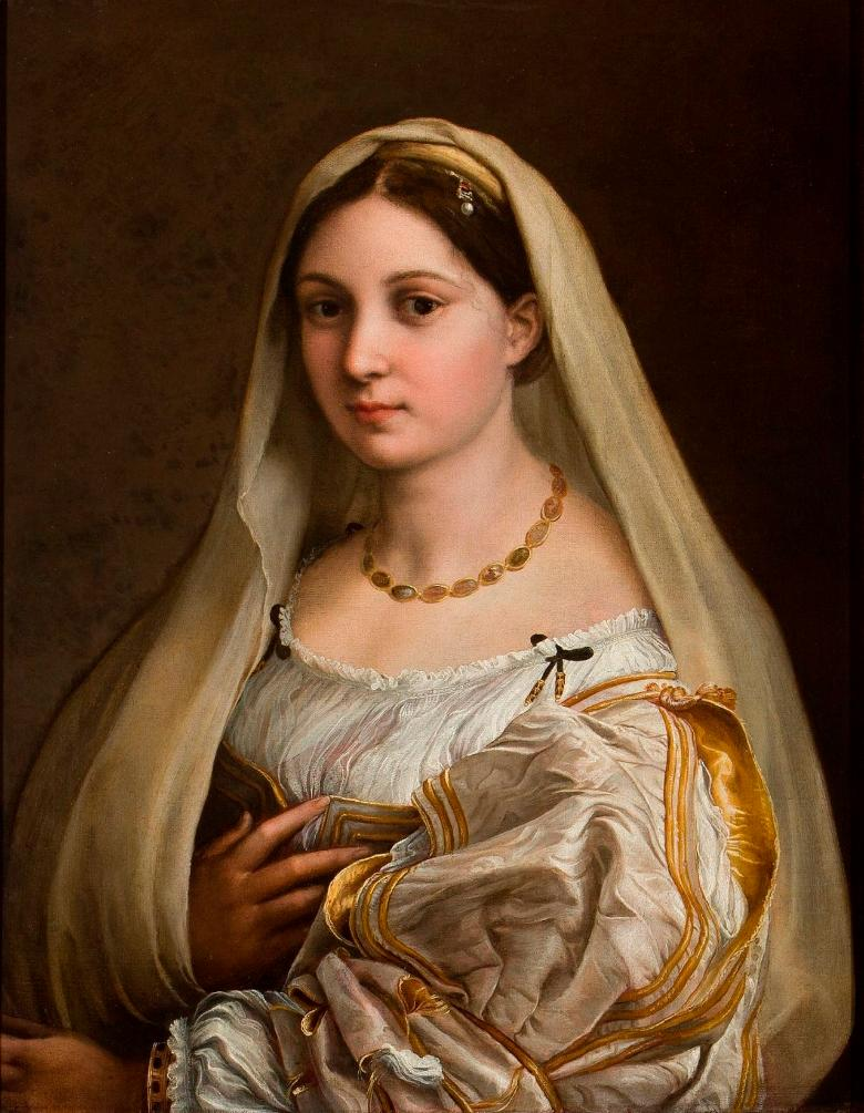 Woman with a veil by Raffaello