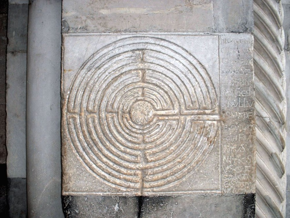 The labyrinth in Lucca