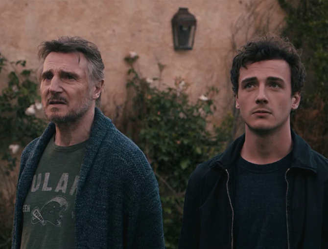 Liam Neeson and his son