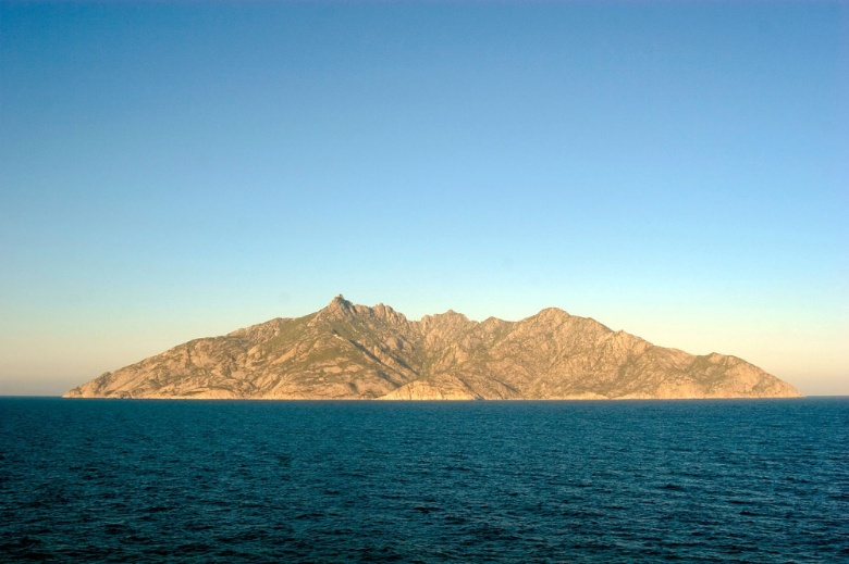 A view of the Montecristo island