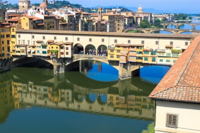 Ponte Vecchio and Vasari Corridor as seen from the Uffizi