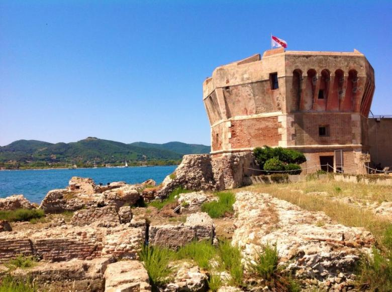 Roman villa on Elba Island