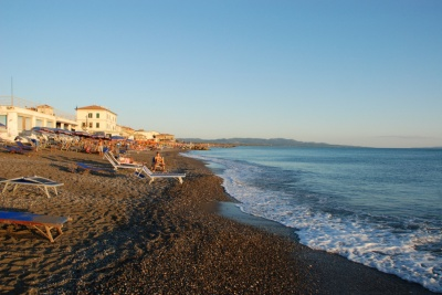Beach at Marina di cecina