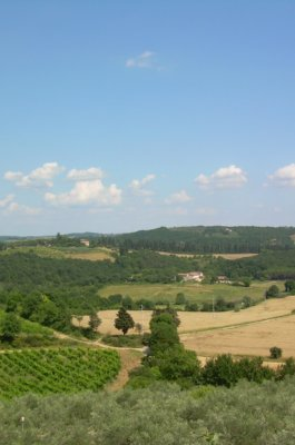 The Montagnola senese from Monteriggioni