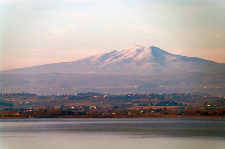 Monte Amiata seen from Trasimeno