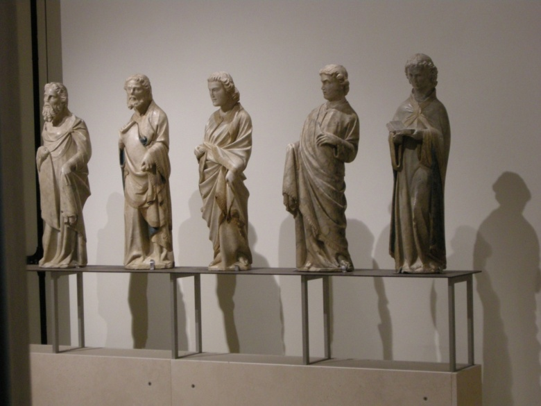 Some statues inside the Sacred Art Museum