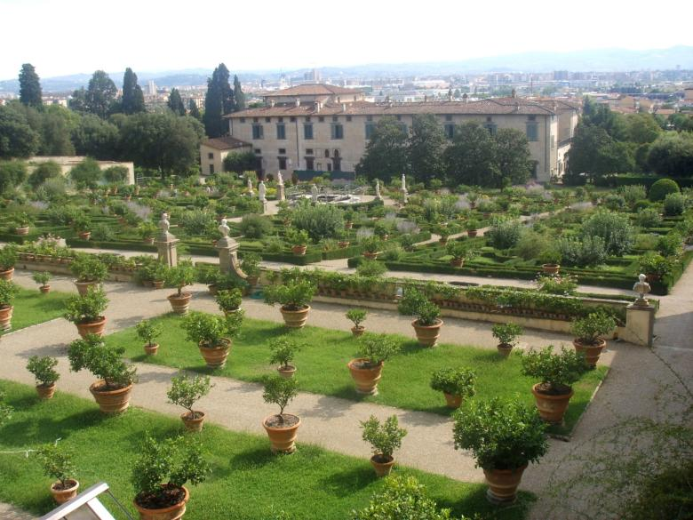 The Garden in the Castello Villa