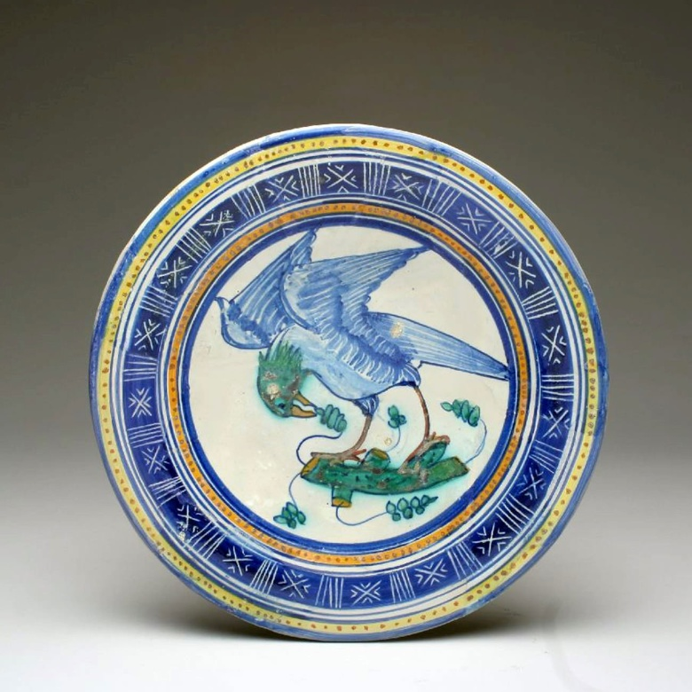 Blue plate from the 1500s